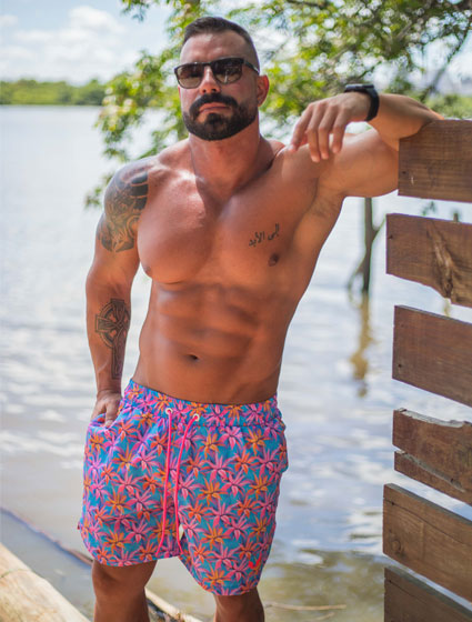 Short Masculino Estampado Tropical