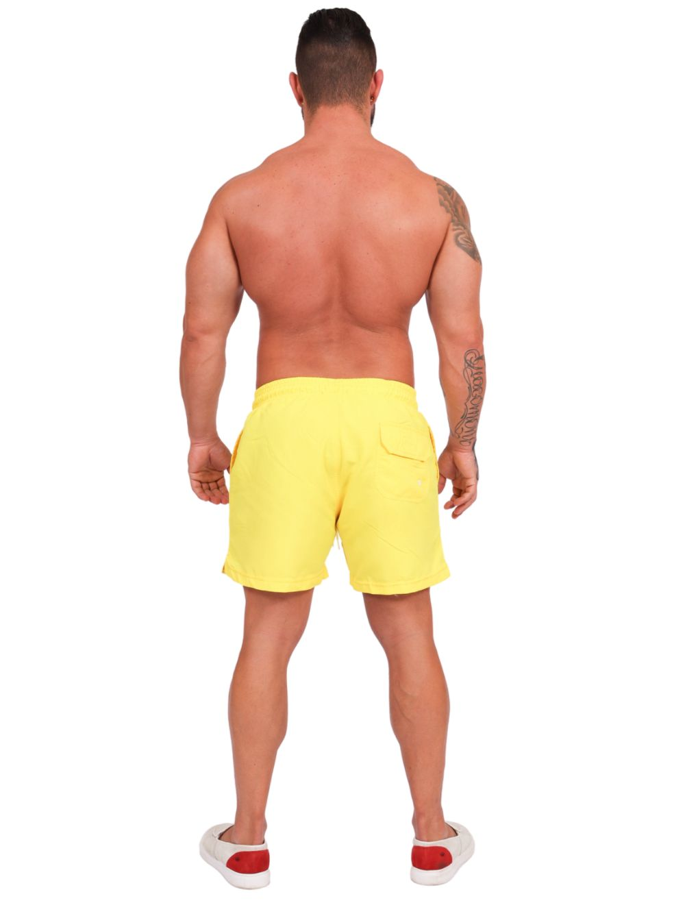 Short Praia Banho Masculino Amarelo