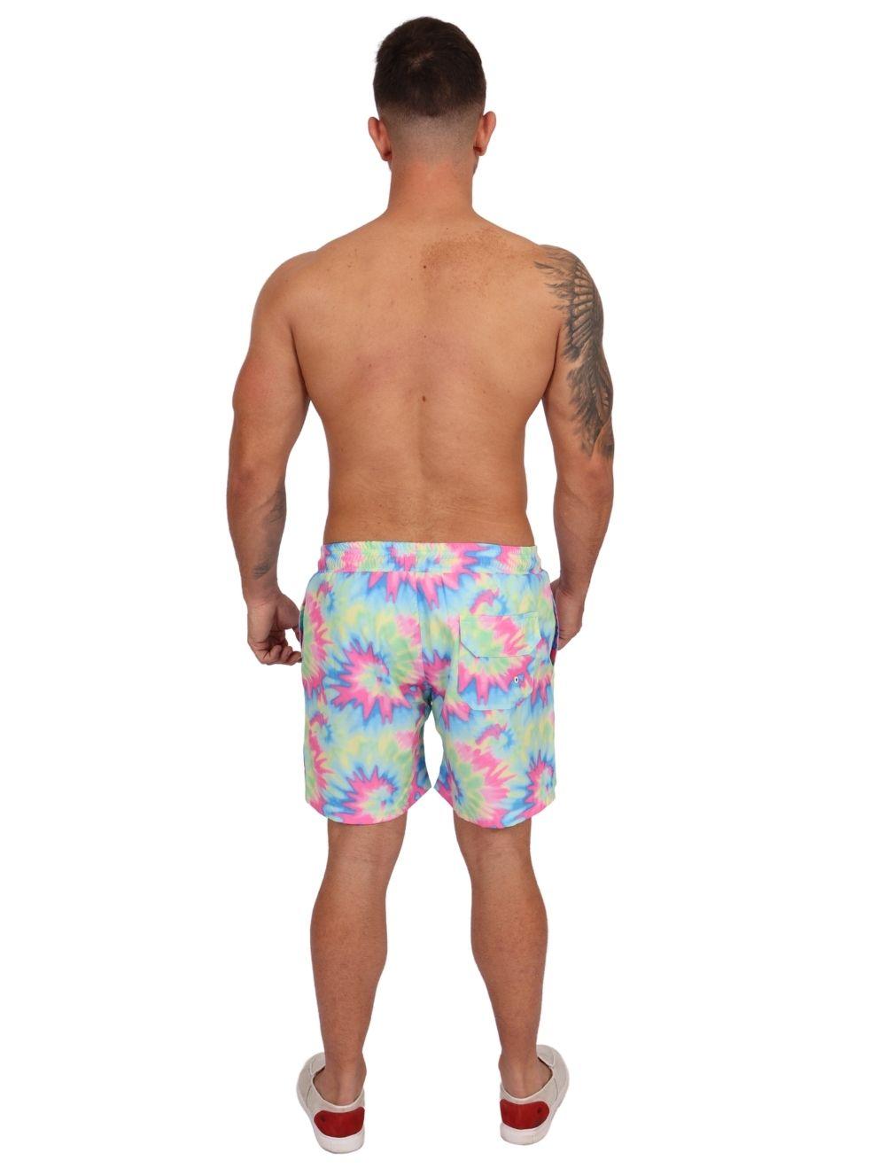 Short Praia Banho Masculino Tie Dye