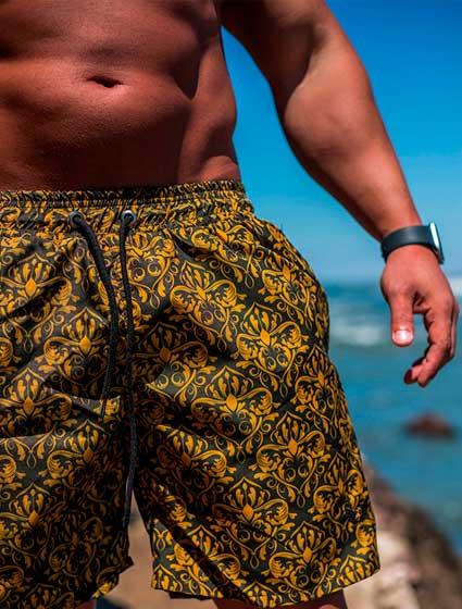 Short Praia Masculino Estampado