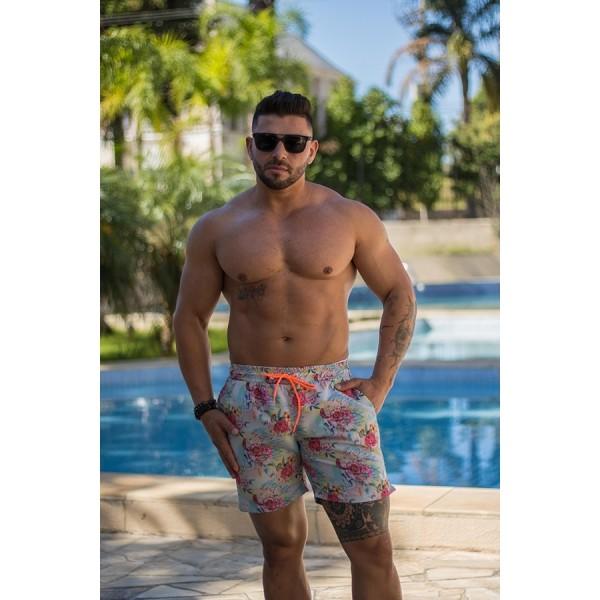 Shorts Praia Masculino Estampado