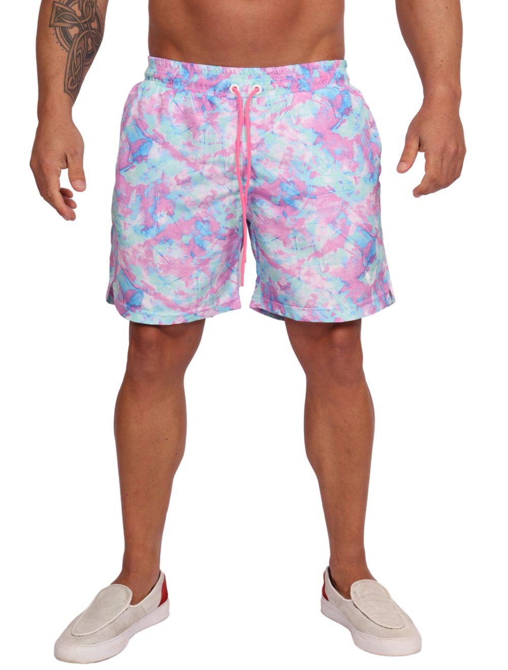 Short Praia Masculino Estampa Tie Dye