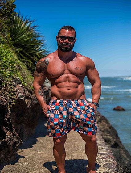 Short Praia Masculino Estampado E.U.A