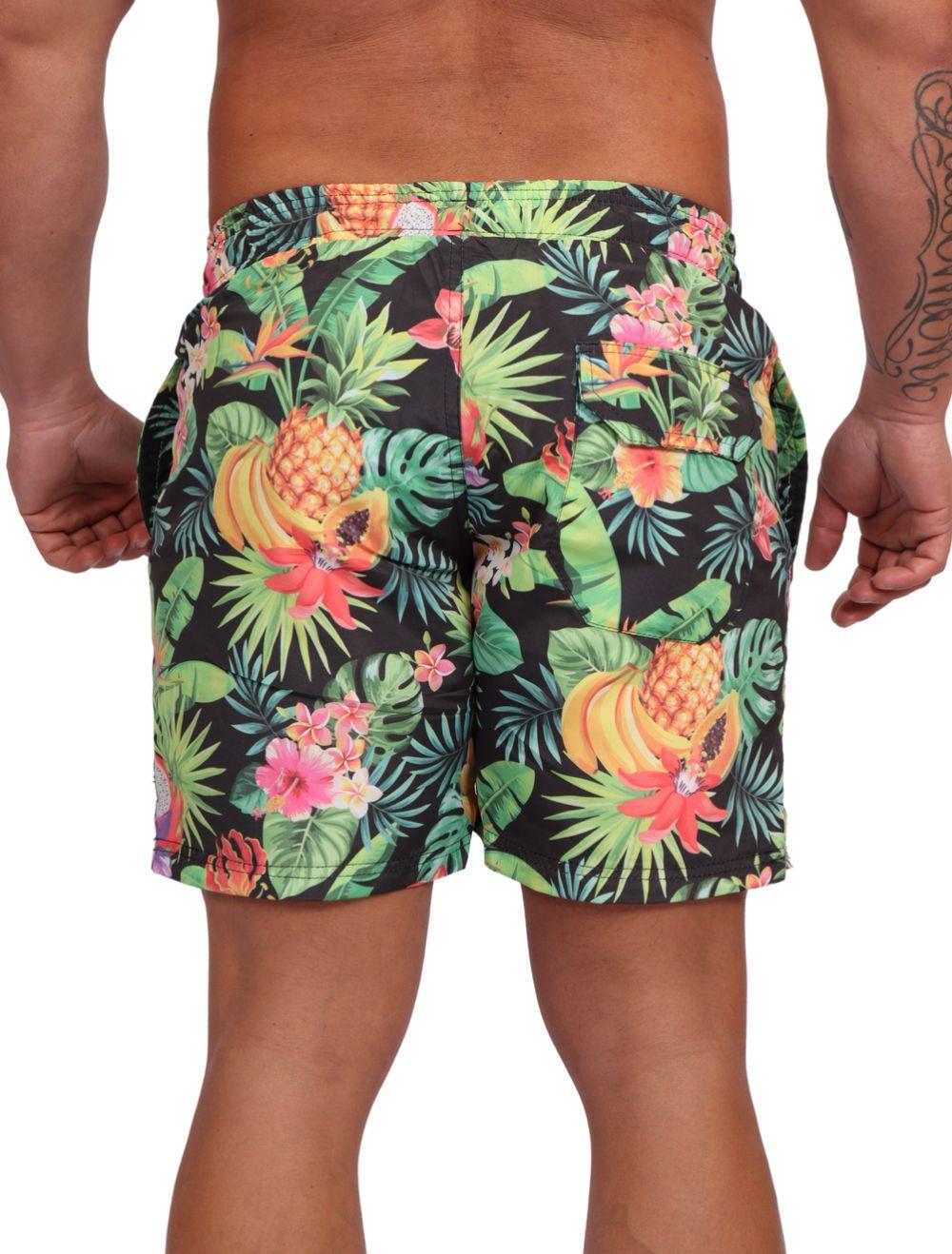 Short Praia Masculino Estampado Tropical