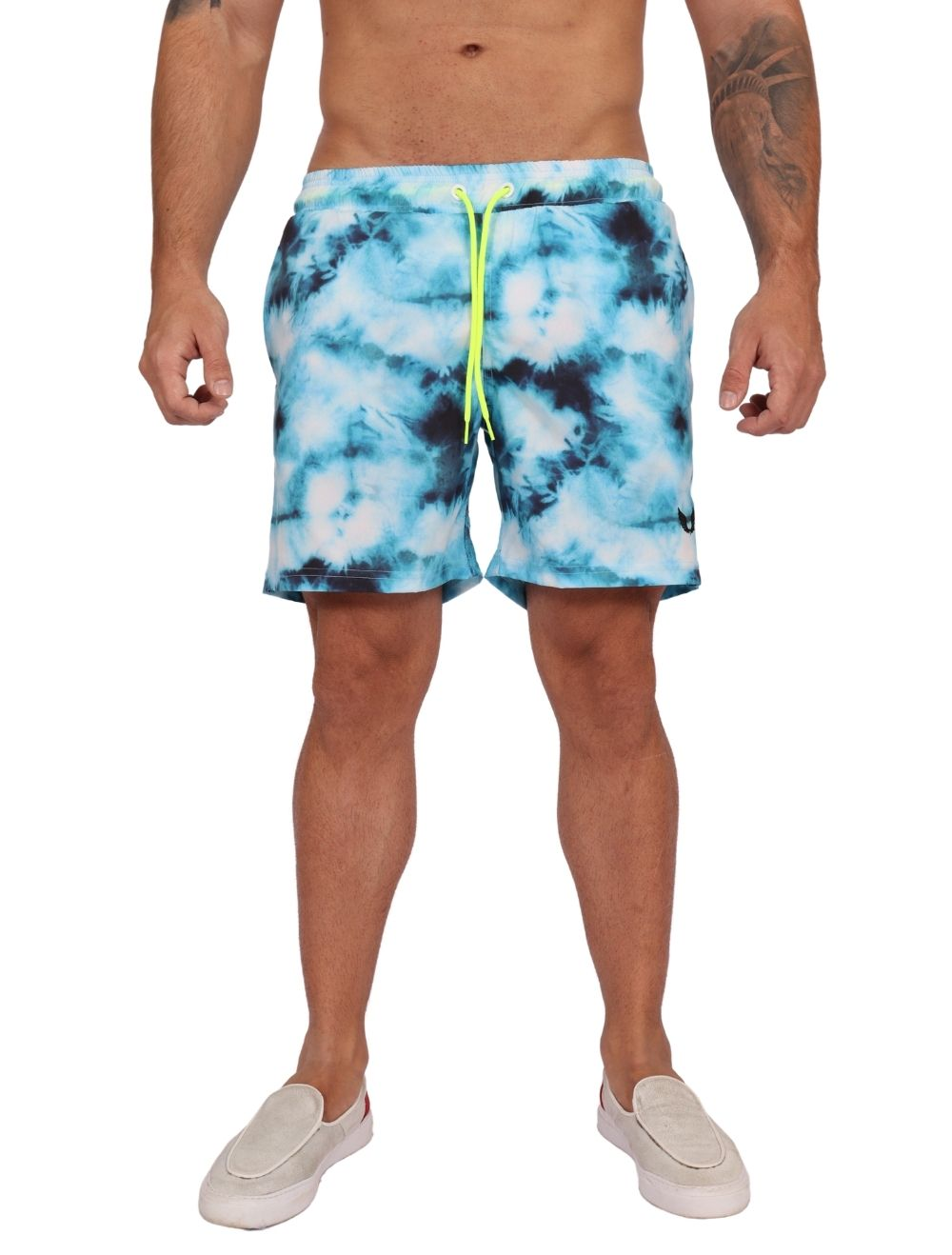 Short Praia Masculino Tie Dye Azul