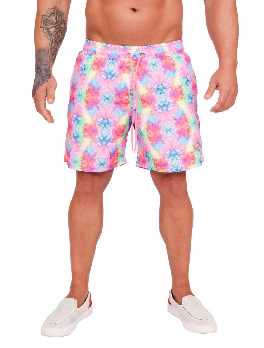 Short Praia Masculino Tie Dye Colorido
