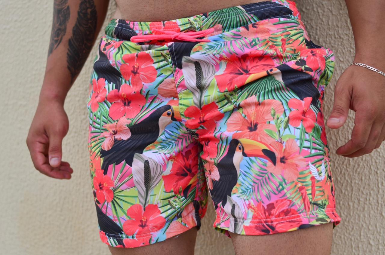 Short Praia Masculino Estampado Tucano