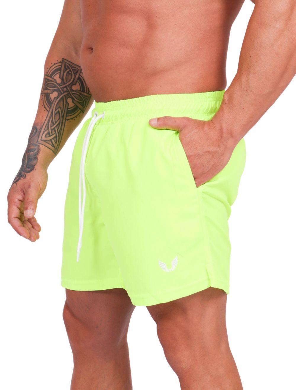 Shorts Praia Masculino Verde Neon