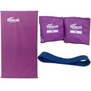 Combo Equipamentos para ginastica em casa mini band forte + caneleira peso 2kg + colchonete academia