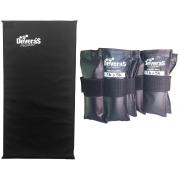 kit caneleiras peso tornozeleira peso 5 kg ajustável / par de caneleira peso regulável + colchonete de ginastica