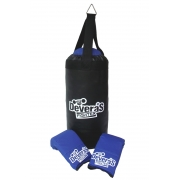 Kit de boxe infantil com saco de pancadas e luva bate saco pancada