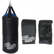 kit de boxe saco de pancada profissional cheio + par de luvas bate saco luva de boxe - saco de boxe 60 cm