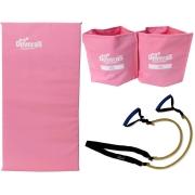 kit elastico exercicio treino em casa elástico extensor + tornozeleira peso 2 kg caneleira de peso + colchonete para academia