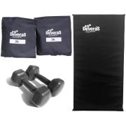 kit funcional peso musculação halteres 3 kg tornozeleira peso 3 kg colchonete para academia