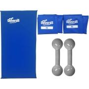 kit halteres 1 kg tornozeleira peso 1 kg e colchonete de academia halteres de 1 kg peso musculacao