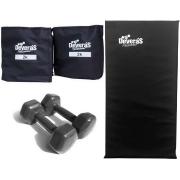 kit musculação pesos academia colchonete academia tornozeleira peso 2 kg par halter 3 kg