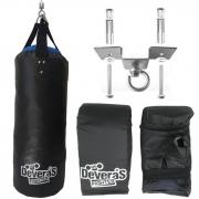 kit saco de pancada mais suporte - suporte teto saco pancada + par de luvas bate saco - saco de pancadas cheio 60 cm