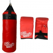 kit saco de pancada / saco de pancadas cheio profissional 70 cm + par de luvas bate saco luva boxe