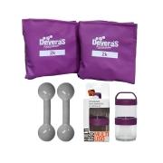 kit treino em casa tornozeleira peso 2 kg halteres 1 kg peso para musculacao com brinde nutricional