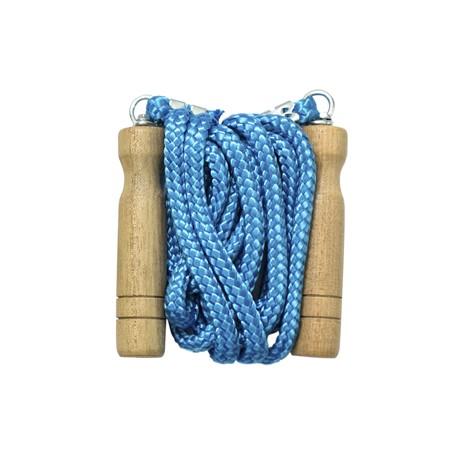Corda Pular para Exercícios com rolamento e cabo de madeira