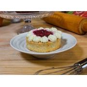 Cheesecake de frutas vermelhas zero açúcar, porção individual.