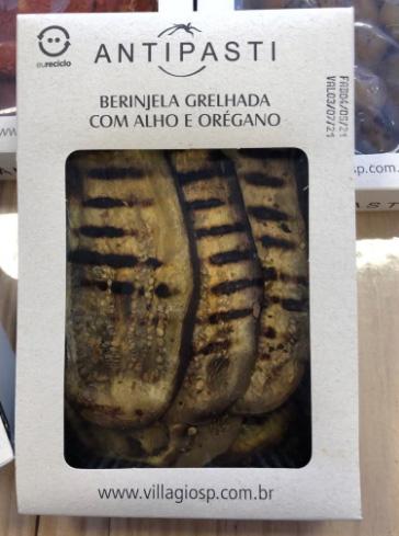 Antepasto de berinjelas grelhadas com alho e orégano