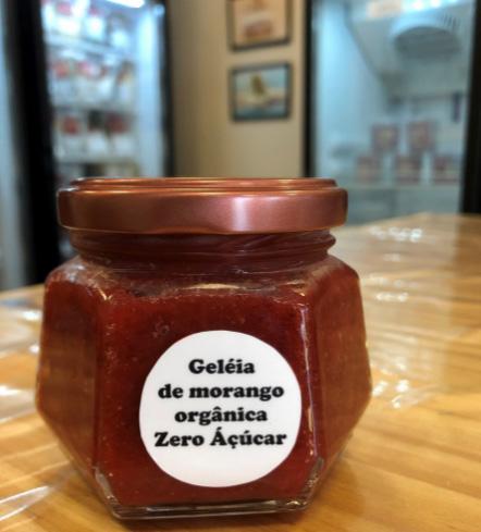 Geleia Zero Açúcar artesanal de morango
