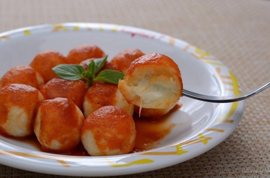 Gnocchi de batata recheado de mussarela - 500g