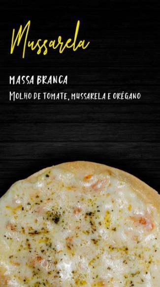 Pizzita tradicional de marguerita, massa branca, molho de tomate, mussarela, parmesão, manjericão 4 unid.
