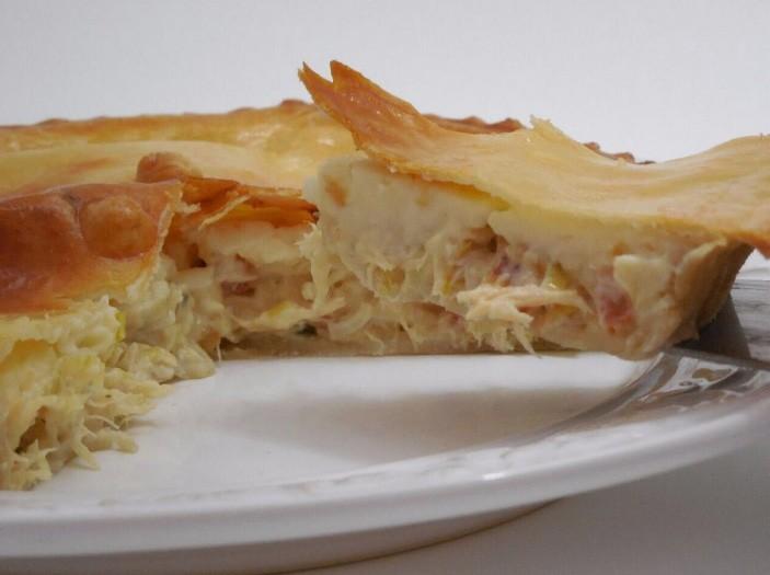 Torta de frango com requeijão 500g
