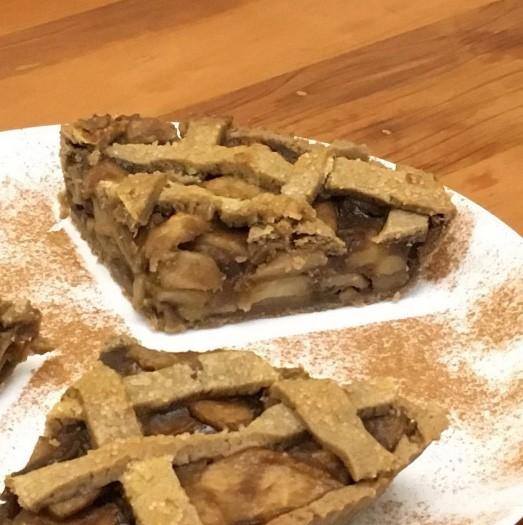 Torta de maça com açúcar demerara