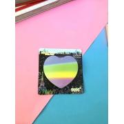 Sticky Note- Coração Colorido