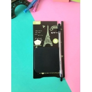 Sticky Note Preto com Caneta