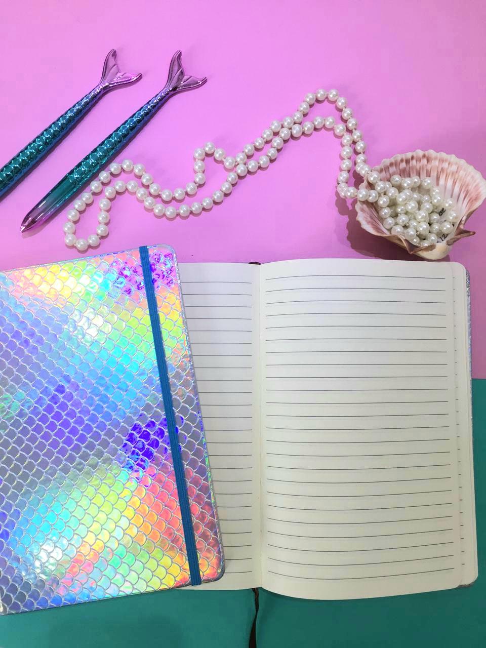 Caderneta Capa dura - Sereia Holográfica