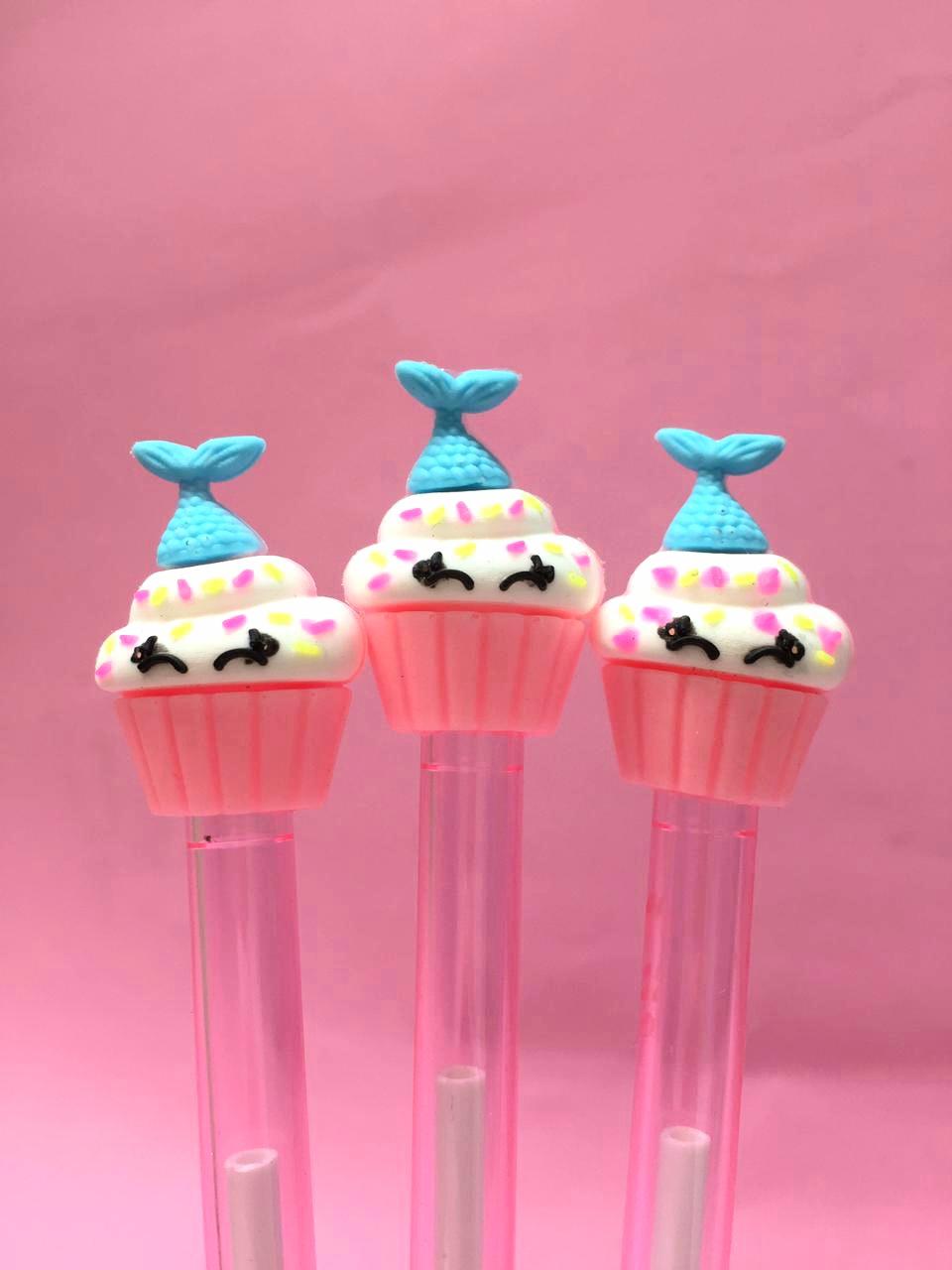 Caneta Cupcake Sereia