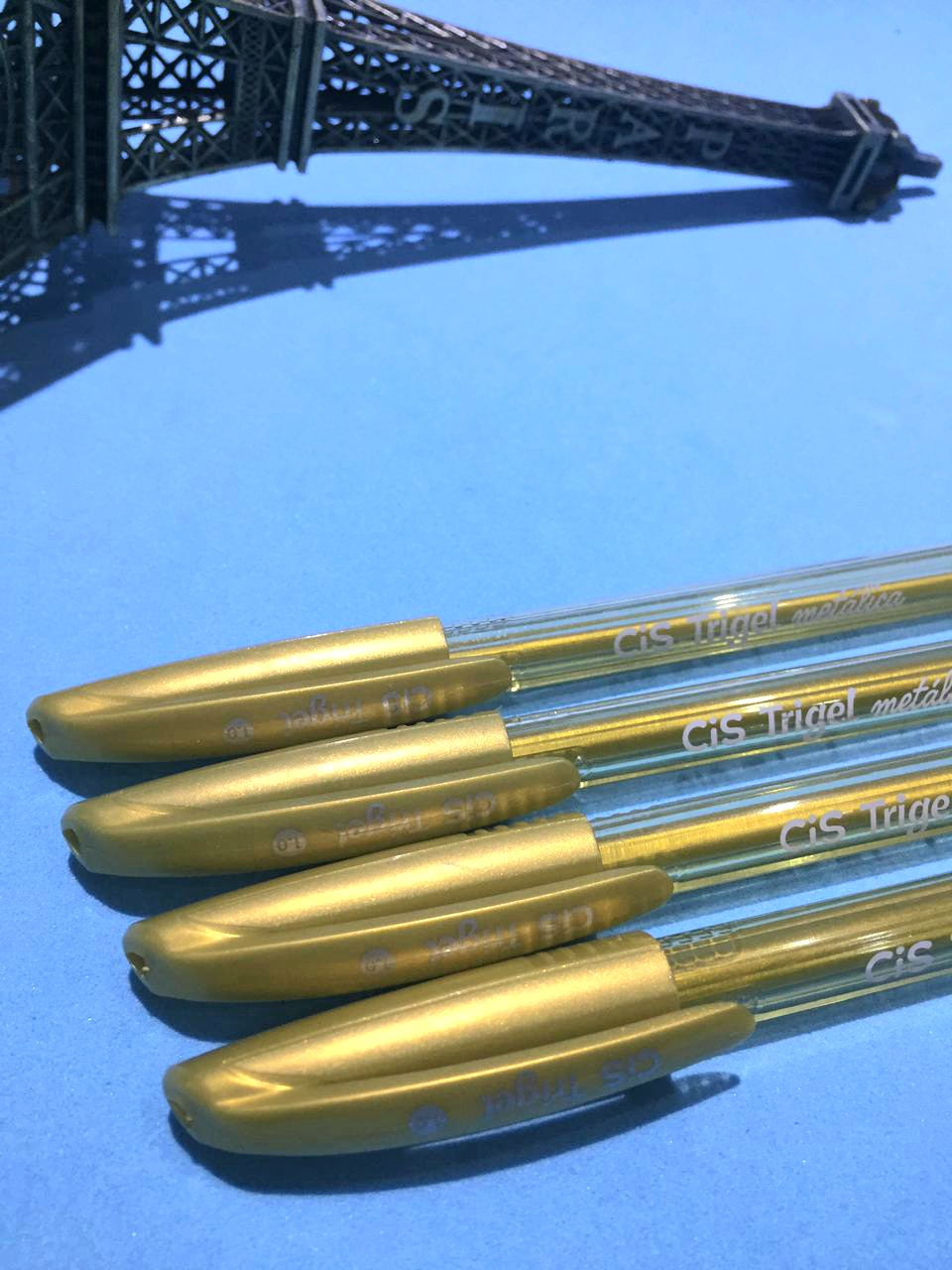 Caneta Gel- Cis Trigel Metálica Dourada