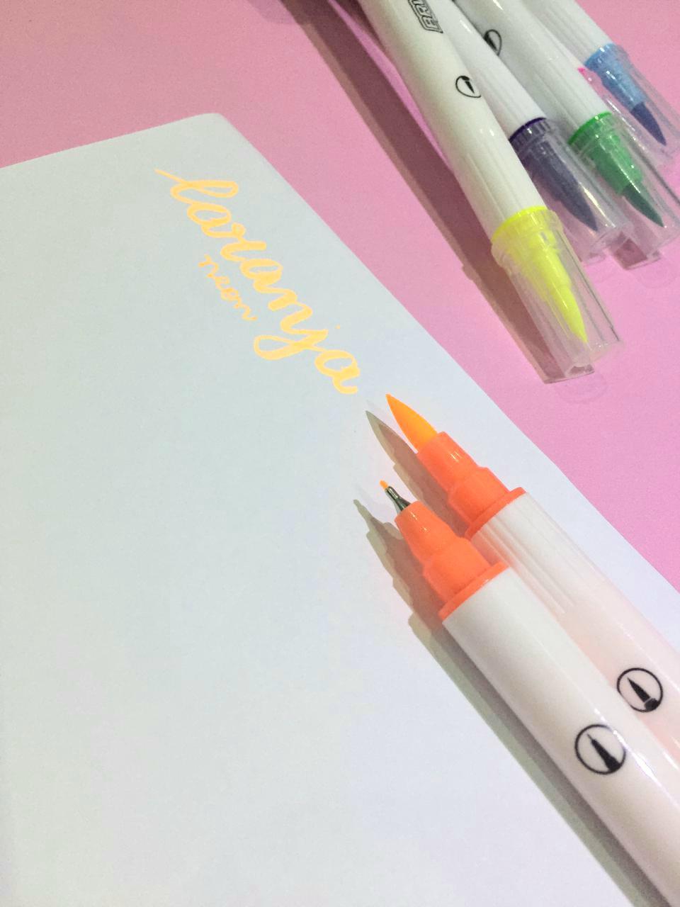 Kit Dual Brush Neon BRW - Brush e Fine line