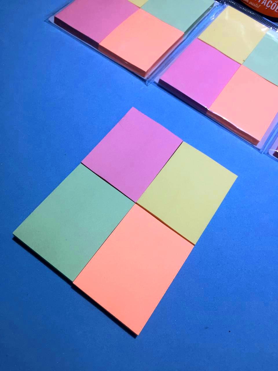 Kit Sticky Note BRW- 4 Tons Pastéis
