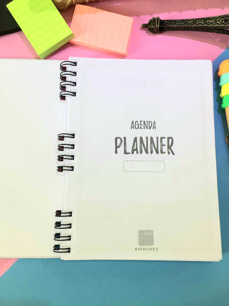 Planner Permanente - Azul com Lettering