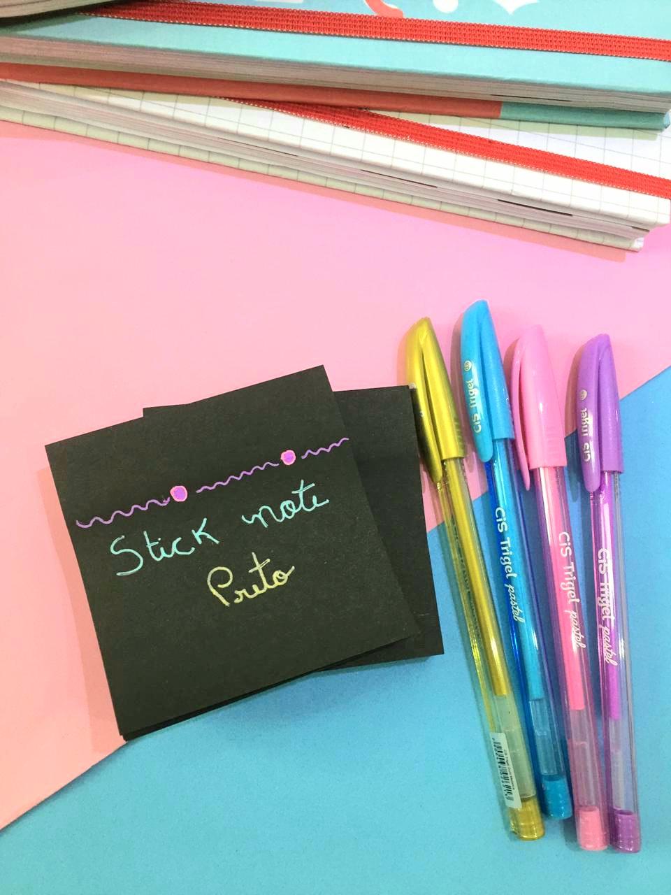 Sticky Note Preto