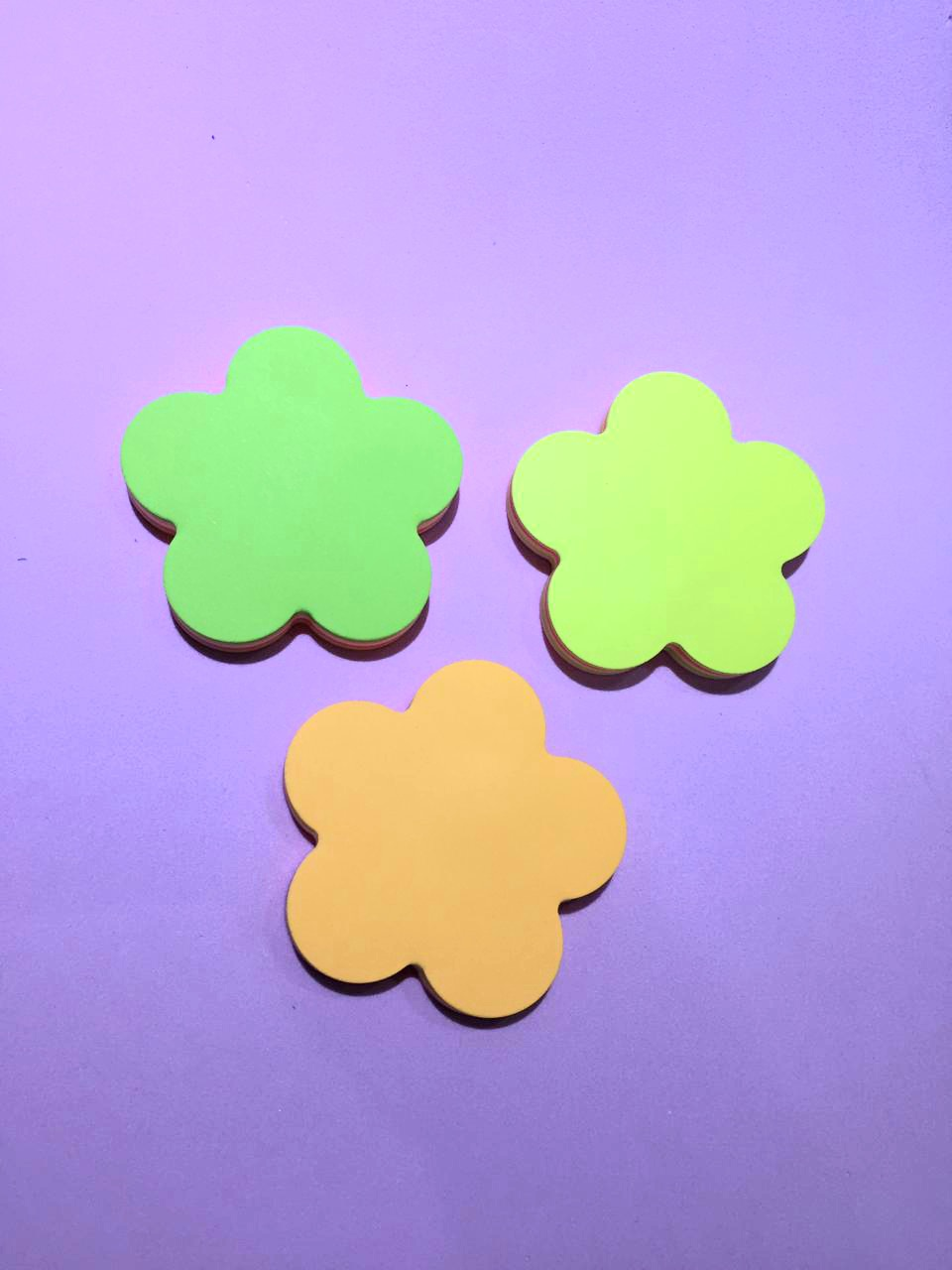 Sticky Note Flor 5 cores- Neon