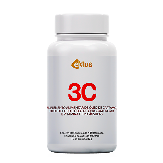 3C Cártamo - Coco - Chia  60 Ektus Cáps de 1450mg