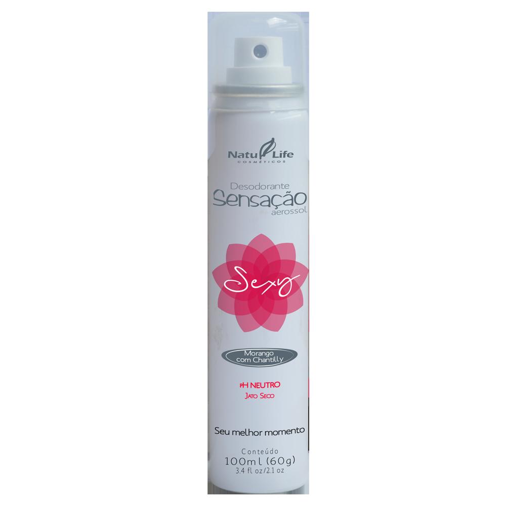 Desodorante Sensação Aerossol SENSUAL Natu Life - 100ml