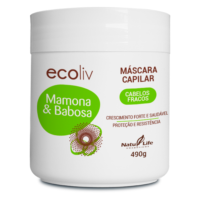 Mamona & Babosa Máscara Capilar Natu Life - 490g