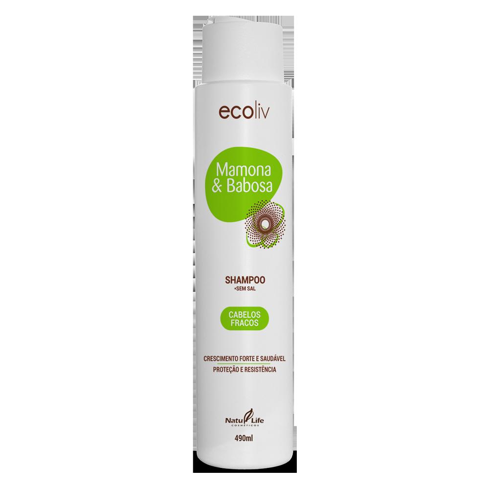 Mamona & Babosa Shampoo Natu Life - 490ml