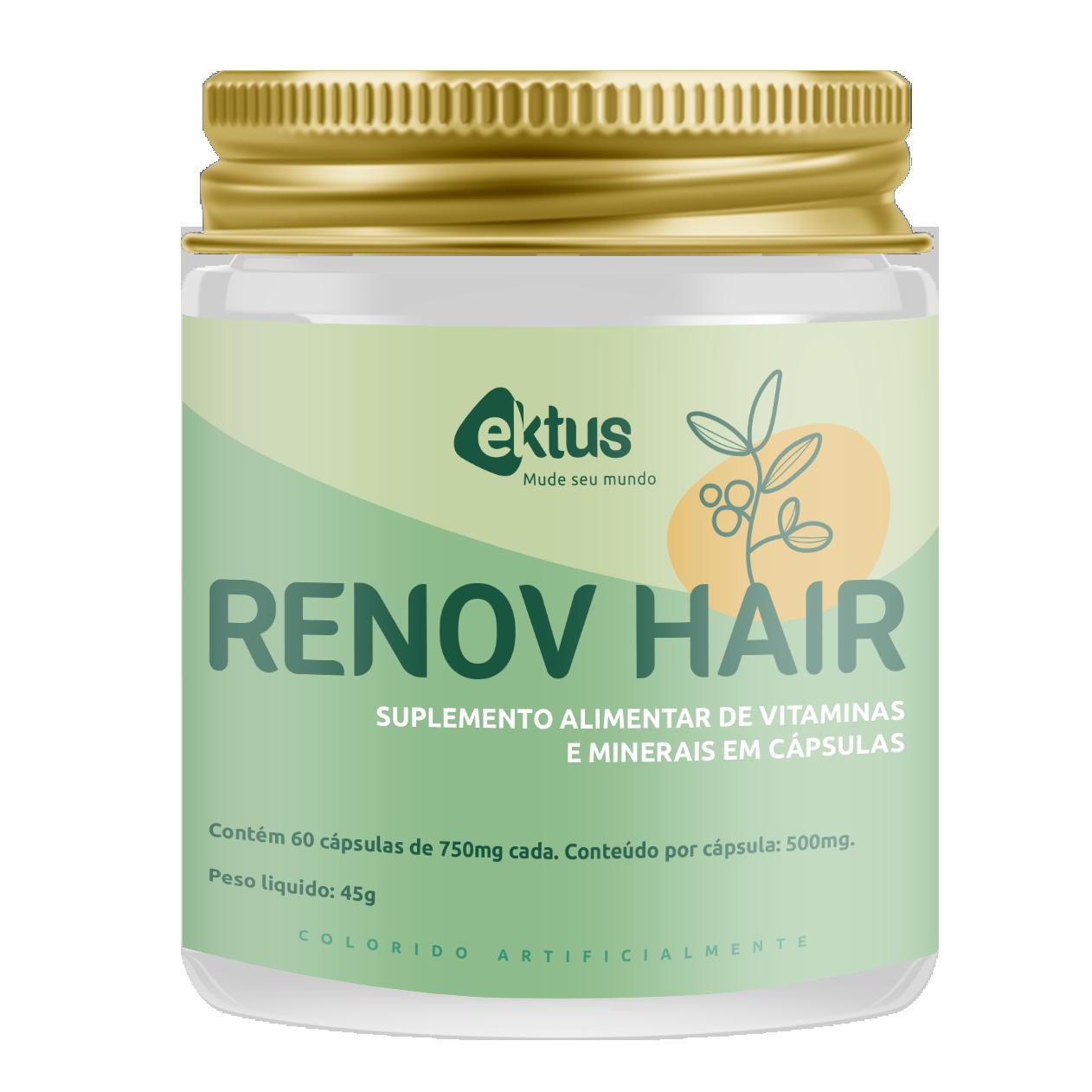 Renov Hair Ektus 60 Cáps de 750mg