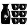 Garrafa de Saquê c/ 6 copos Cerâmica - Oriental Japonês
