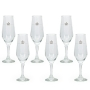 Taça Champagne 186ml Vidro - 6 peças