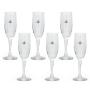 Taça Champagne 193ml Vidro - 6 peças