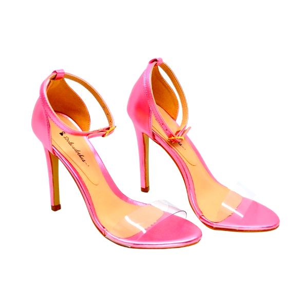 Sandália de Salto Alto Rosa Claro